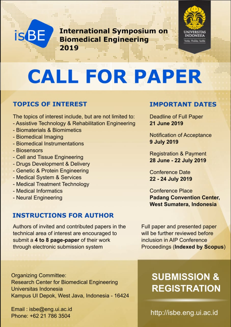 Call for Papers - ISBE 2019